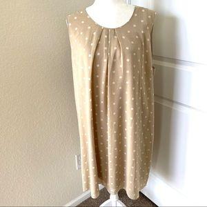 Charlie Paige polka dot sleeveless dress